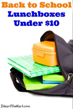 Back to School Lunchbox ideas under $10!