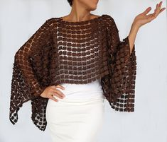 Anthracite Gray Tunic, Embroidery Lace Shrug Bolero, Evening Dress Coverup, Mother of the Bride Shawl, Poncho Cape Top Shoulder Stole Grey Shrug, Lace Shrug, Lace Tunic, Eyelet Lace, Floral Lace, Poncho Cape, Poncho Shawl, Brown Evening Dresses, Black Lace Fabric