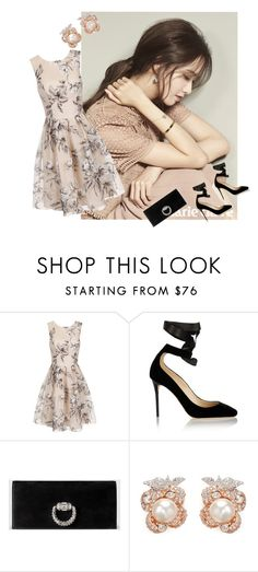 """""""Daydreams"""" by deborah-strozier ❤ liked on Polyvore featuring Chi Chi, Jimmy Choo, Gucci and Anabela Chan"""