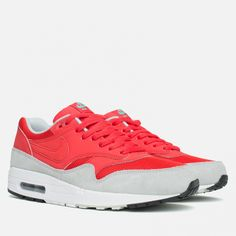 85b07a7947b81a Кроссовки Nike Air Max 1 Essential Red/Grey Article: 537383-600 Release:  2015