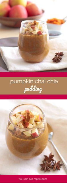 Pumpkin Chai Chia Pudding - Super rich in healthy fats and fibre, this pumpkin chia pudding will fill you up and help you get your pumpkin fix!