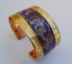 'Hand Painted Canvas Cuff Bracelet' is going up for auction at  8am Tue, Apr 2 with a starting bid of $12.