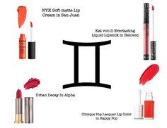 Best #lipstick  according to your #zodiac sing #makeup #zodiacmakeup #zodiaclipstick