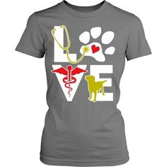 Show how proud you are with your profession wearing Veterinarian Love dog. Check…