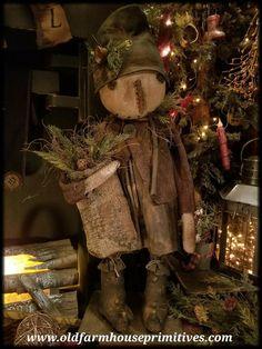 "Primitive Standing Snowgirl ""Winnie"" & Snowboy ""Whitey"" (Made In – Old F… # Primitiva De pie Snowgirl ""Winnie"" y Snowboy ""Whitey"" (Hecho en – Primitivas Old Farmhouse Primitive Country Christmas, Primitive Homes, Primitive Snowmen, Prim Christmas, Primitive Crafts, Christmas Crafts, Christmas Decorations, Christmas Ornaments, Primitive Bedroom"