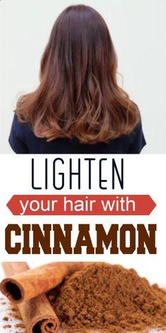 Use Cinnamon To Lighten Hair And Add Highlights Naturally - NZ Holistic Health Lighten Hair Naturally, Soften Hair, How To Lighten Hair, How To Make Hair, Health Tips For Women, Health And Beauty, Health Advice, Health Care, Beauty Skin