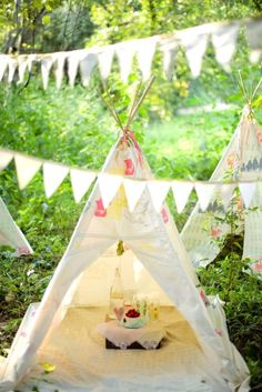 tents and tee pees galore   I'm in love