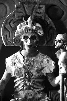 mortem-et-necromantia:  Mictlantecuhtli. Mictlantecuhtli, Lord of Mictlan, in Aztec religion, was a god of the dead and the king of Mictlan, the lowest and northernmost section of the Underworld. He was one of the principal gods of the Aztecs and was the most prominent of several gods and goddesses of Death and the Underworld. The worship of Mictlantecuhtli sometimes involved ritual cannibalism, with human flesh being consumed in and around the temple.