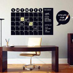 Self-Adhesive Chalkboard Calendar, home decor
