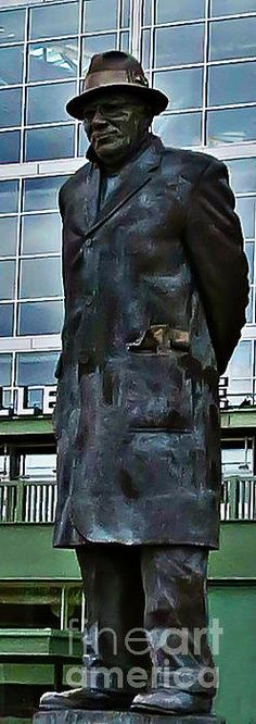 Vince Lombardi Statue Silhouette~Two Print By Stephanie Forrer-Harbridge