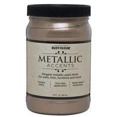 Rust-Oleum�Quart Interior/Exterior Gloss Champagne Metallic Paint--Wood Dresser paint