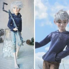 Jack Frost - Rise of the Guardians / Handmade from Ooak Tree dolls Monster High Repaint Jackson Jekyll House Of Beauty, Princess Celestia, Rise Of The Guardians, Monster High Repaint, Futurama, Fluttershy, Arya Stark, Equestria Girls, Wedding Beauty