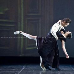 """Isabella Ciaravola and Marcelo Gomes in """"Lady of the Camellias"""" #photo by Nikolay Krusser..."""