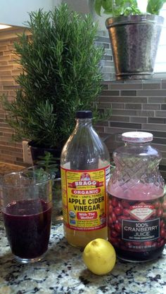 An awesome daily liver cleanser! 1/2 cup pure cranberry juice, 1 Tsp apple cider vinegar, juice of 1/2 a lemon and some water. A great way to jump start your day!: