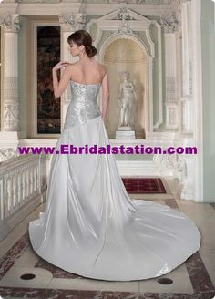 Style 8383 » Wedding Gowns » DaVinci Bridal » Available Colours : Ivory/Silver, Ivory/Ivory, White/Silver, White/White (back)