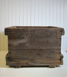 ON SALE Square Wooden Crate by JunkieTrunkETC on Etsy, $29.75