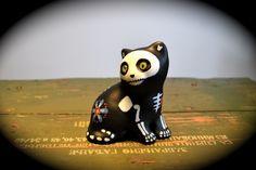 Spooky Cat - Dia de los Muertos style - Handpainted -  by Chicas de los Muertos