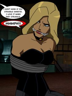Young Justice Black Canary Gagged by TheOneAndOnlyCaptor
