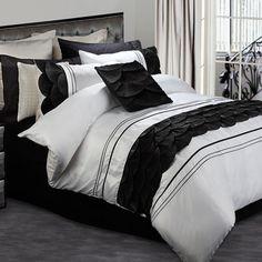 buyinvite.com.au - ba.Perle Palermo Quilt Cover Set Queen Black-Perle-P513