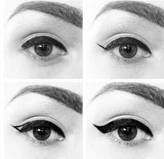 Perfect liquid liner cat eye