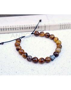 Ανδρικό Βραχιόλι Tiger Eye Beads & Buddha Face Buddha Face, Tiger Eye Beads, Beaded Bracelets, Jewelry, Jewlery, Jewerly, Pearl Bracelets, Schmuck, Jewels