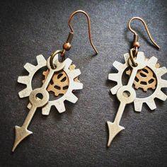 How's about a pair for your bestie?  Papercranest.com  #earrings #picoftheday #handmadelife #dangleearrings #brassjewelry #upcycledart #bohojewelry #accessories #handmadenation #instadaily #makersbiz #wanderlust #creativelife #giftset  #antique #vintage #