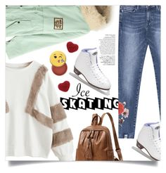"""""""Skate Date: Ice Skating Outfit"""" by mahafromkailash ❤ liked on Polyvore featuring Riedell, Avenue and Sephora Collection"""