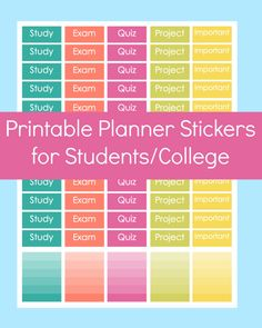 New to CommandCenter on Etsy: Printable Erin Condren Stickers Erin Condren Student Erin Condren Stickers Printable Student Planner Stickers College Planner Stickers (1.99 USD)
