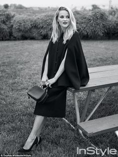 Timeless beauty: Reese Witherspoon looks fantastic as she is featured in the December issue of InStyle