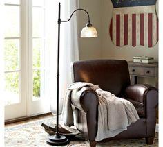 Chloe Hobnail Mercury Glass Task Floor Lamp | Pottery Barn