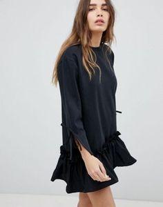 STYLENANDA Frill Hem Mini Dress - $56.25