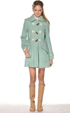 i love finding winter clothing in pastels or clear colors.
