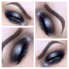 Smokey Eye With a Pop of Glitter