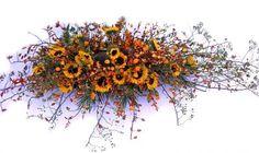 3188. Zomerbloemen arrangement ± 140cm