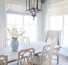 love the table and chairs large windows and overall feel