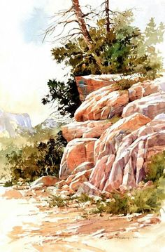 #watercolor landscape