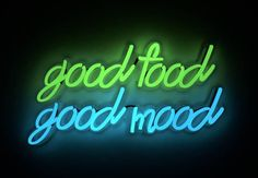 For Sale on - Good food Good mood, Neon Light by Mary Jo McGonagle. Offered by Contempop Gallery. Neon Wallpaper, Aesthetic Iphone Wallpaper, Neon Food, Neon Signs Quotes, Food Signs, Light Quotes, Maila, Neon Aesthetic, Neon Light Signs