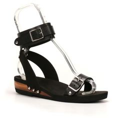 8a9ab7d90 Low Ankle Cuff Sandals with ebony upper. Made from eco-friendly materials  and feature