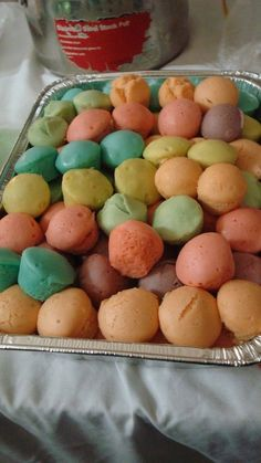 Filipino dessert, rice cakes, so colorful - that's the theme of the Block party all around, fun and colorful