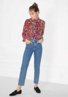 & Other Stories Straight Denim Jeans in Dark Blue