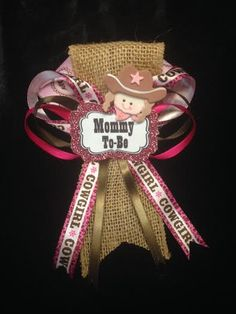 Cowgirl baby shower corsage // Mommy-to-be corsage by CutestFavors