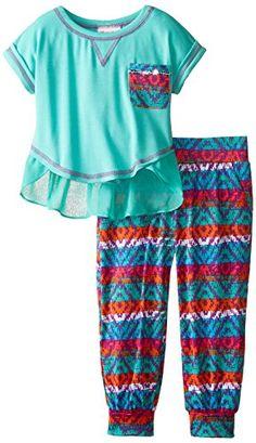 Little Lass Little Girls' 2 Piece Jogger Set Knit Chiffon, Emerald Jewel, 4T Little Lass http://www.amazon.com/dp/B00V69NYT8/ref=cm_sw_r_pi_dp_V0y6vb084H1EF