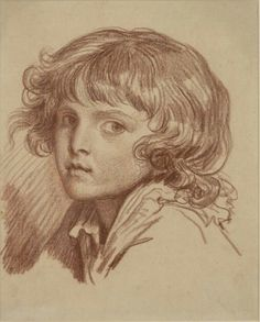 Jean-Baptiste Greuze Head of a Boy with Curly hair - The Largest Art reproductions Center In Our website. Low Wholesale Prices Great Pricing Quality Hand paintings for saleJean-Baptiste Greuze Drawing Heads, Cool Art Drawings, Drawing Skills, Figure Drawing, Boys With Curly Hair, Jean Baptiste, Large Art, Portrait Art, Art Reproductions