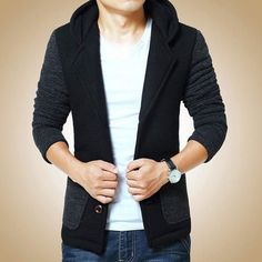 New Arrival! Black High Quality Slim Pea Coat, $95, Free Worldwide Shipping. US Sizes. Buy at www.mrmagnata.com  @mrmagnata @mrmagnata @mrmagnata