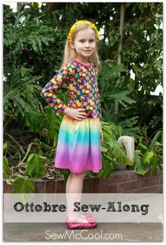 Completing the Ottobre dress for early spring 2014 sew-a-long with sewmccool #sewing #knits