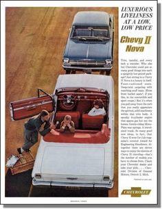 1962 Chevrolet's Chevy II Nova Automobile Print Ad