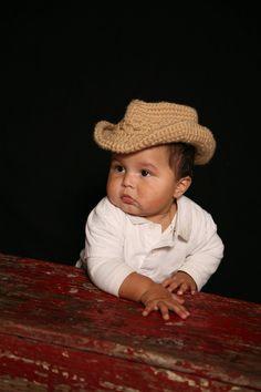 Kid+Cowboy+Hat+Crochet+Patterninfant+toddlerm+child+by+smeckybits,+$4.99