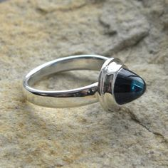 OOAK Unusual London blue topaz ring by maximeboldeau on Etsy, SOLD