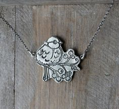 Chickadee bird fine silver pendant sterling silver necklace by ALMrozarka on Etsy Silver Pendants, Sterling Silver Necklaces, Silver Jewelry, Small Skull, Handmade Jewelry, Handmade Silver, Silver Charms, Pure Products, Chain