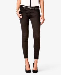 Colored Zippered Skinny Jeans | FOREVER21 - 2019054318
